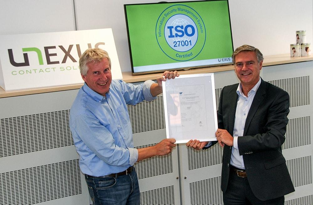 ISO certificering Unexus